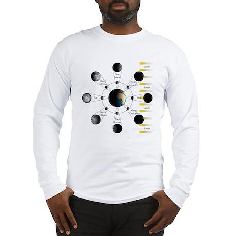 Lunar Cycle Long Sleeve T-Shirt