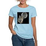 Wolf head Moon Women's Pink T-Shirt