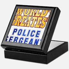 World's Greatest Police Sergeant Keepsake Box
