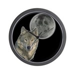 Wolf head Moon Wall Clock