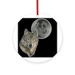 Wolf head Moon Ornament (Round)