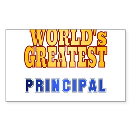 World's Greatest Principal Sticker (Rectangle)