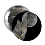 Wolf head Moon Button