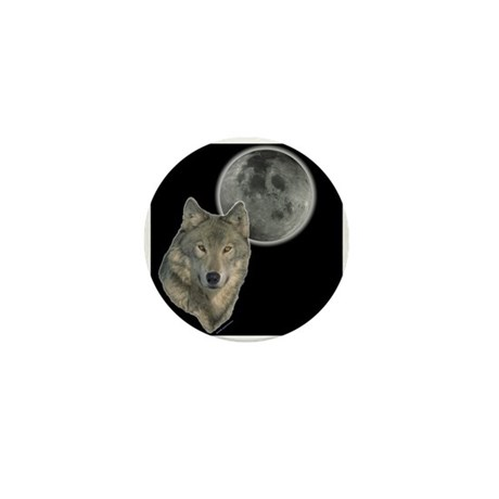Wolf head Moon Mini Button (10 pack)