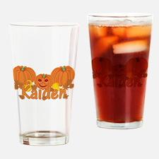 Halloween Pumpkin Kaiden Drinking Glass