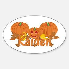 Halloween Pumpkin Kaiden Sticker (Oval)