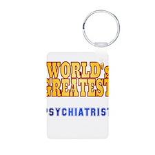 World's Greatest Psychiatrist Keychains