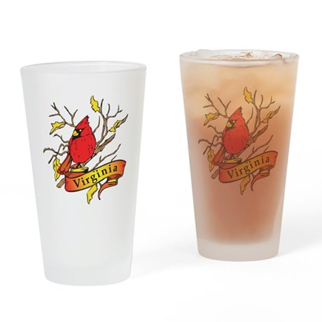 Virginia Cardinal Drinking Glass