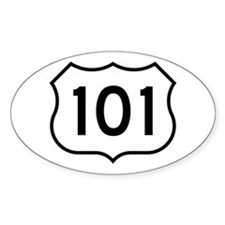U.S. Route 101 Oval Decal