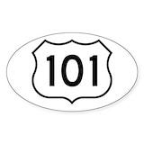 Route 101 Bumper Stickers