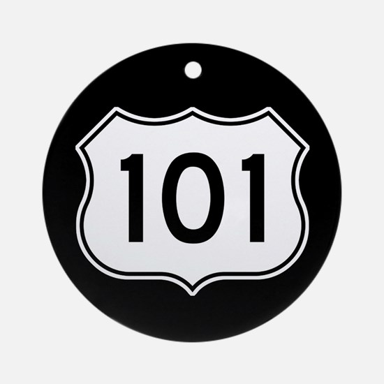U.S. Route 101 Ornament (Round)