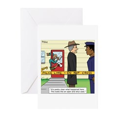 Open and Shut Case Greeting Cards (Pk of 10)