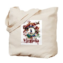 Butterflies Virginia Tote Bag