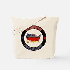 German American Flags Map Tote Bag