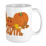 Halloween Pumpkin Kevin Large Mug