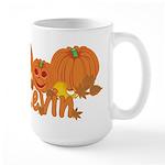 Halloween Pumpkin Kevin Large Mug