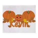 Halloween Pumpkin Kevin Throw Blanket
