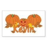 Halloween Pumpkin Kevin Sticker (Rectangle)