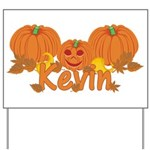 Halloween Pumpkin Kevin Yard Sign