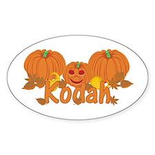 Halloween Pumpkin Kodah Decal