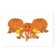Halloween Pumpkin Kyle Postcards (Package of 8)