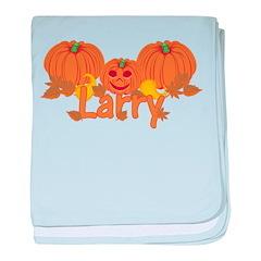 Halloween Pumpkin Larry baby blanket