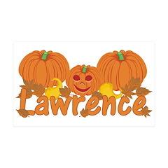 Halloween Pumpkin Lawrence Wall Decal
