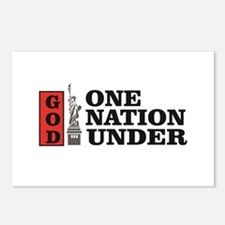 one nation under god libe Postcards (Package of 8)