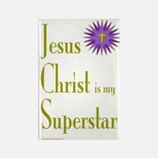 JESUS SUPERSTAR Rectangle Magnet