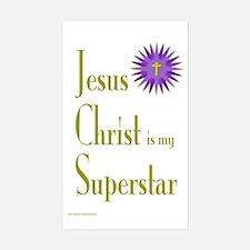 JESUS SUPERSTAR Rectangle Decal