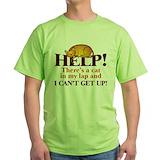 Cat sleep Green T-Shirt