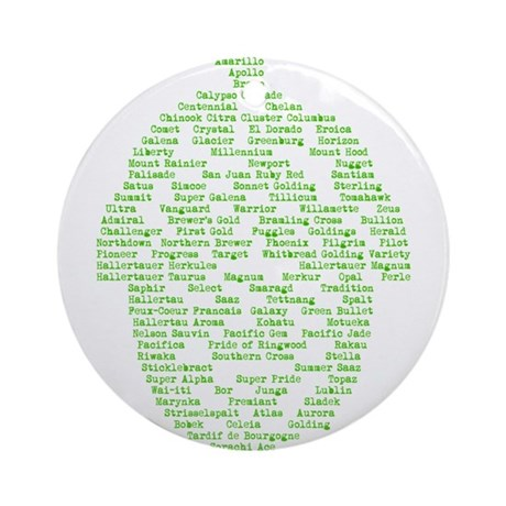 Hops of The World Ornament (Round)