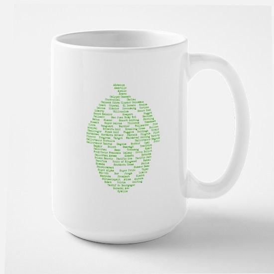 Hops of The World Large Mug