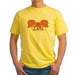 Halloween Pumpkin Levi Yellow T-Shirt