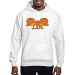 Halloween Pumpkin Levi Hooded Sweatshirt