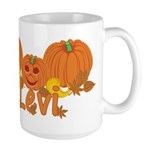 Halloween Pumpkin Levi Large Mug