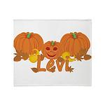 Halloween Pumpkin Levi Throw Blanket