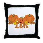 Halloween Pumpkin Levi Throw Pillow