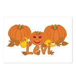 Halloween Pumpkin Levi Postcards (Package of 8)
