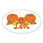 Halloween Pumpkin Levi Sticker (Oval)