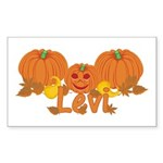 Halloween Pumpkin Levi Sticker (Rectangle)