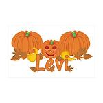 Halloween Pumpkin Levi 35x21 Wall Decal