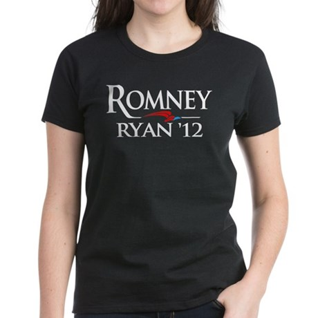 Romney - Ryan '12 Women's Dark T-Shirt