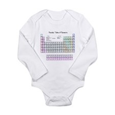 Periodic Table Long Sleeve Infant Bodysuit