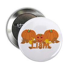 """Halloween Pumpkin Liam 2.25"""" Button"""