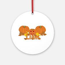 Halloween Pumpkin Liam Ornament (Round)