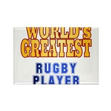 World's Greatest Rugby Player Rectangle Magnet