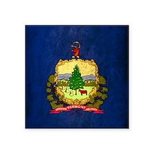 """Grunge Vermont Flag Square Sticker 3"""" x 3"""""""