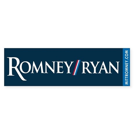 Romney - Ryan '12 Sticker (Bumper)