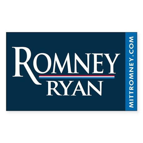 Romney - Ryan '12 Sticker (Rectangle)